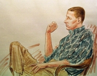 Timothy McVeigh sits in the courtroom during his trial.