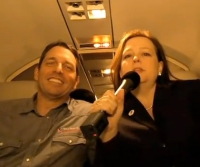 Mark Meckler and Jenny Beth Martin aboard 'Patriot One.'