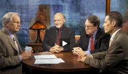 Bill Moyers, John Walcott, Jonathan Landay, and Greg Mitchell on PBS&#8217;s &#8216;Journal.&#8217;