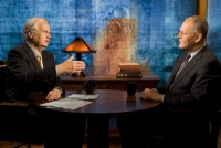 Wendell Potter (r) being interviewed by Bill Moyers (l).