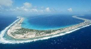 Mururoa Atoll, the site of French nuclear testing.
