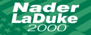 The logo for the 2000 Green Party presidential ticket, featuring Ralph Nader and Winona LaDuke.