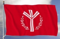 'Life rune' flag flown by National Vanguard.