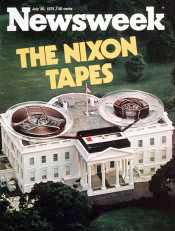 &#8217;Newsweek&#8217; cover on the revelation of the White House taping system.