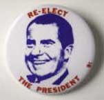 1972 Nixon campaign button.