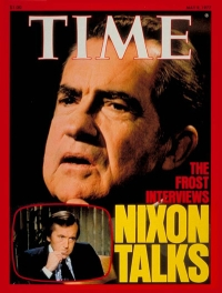 Time magazine cover from May 9, 1977 touting the Frost/Nixon interviews.