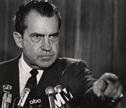 President Nixon during the press conference.