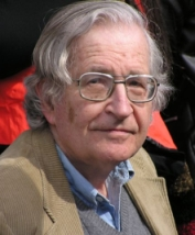 "Noam Chomsky, noted linguist and and ""anti-imperialism"" activist."