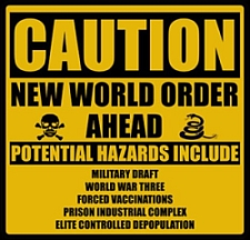 A Web graphic opposing the 'New World Order.'