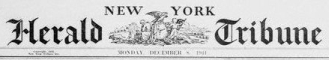 New York Herald Tribune masthead, from 1941.