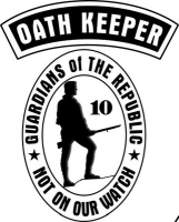 Depiction of an Oath Keeper shoulder patch.