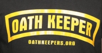 Oath Keepers logo, as pictured on a T-shirt sold on the organization's Web site.