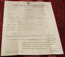 The fraudulent birth certificate presented by California lawyer Orly Taitz 'proving' that Barack Obama was born in a Kenyan hospital.