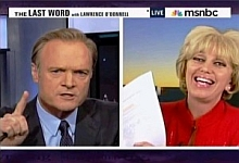 Lawrence O'Donnell and Orly Taitz on O'Donnell's MSNBC show 'The Last Word.'