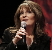 Former Governor Sarah Palin speaks at the National Tea Party Convention in Nashville.