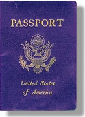 A typical US passport.