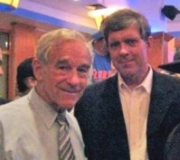 A September 2007 photo of Ron Paul and Don Black, the former Klansman who runs the racist Stormfront.org Web site.