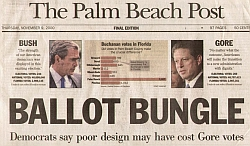The headline in today's Palm Beach Post.