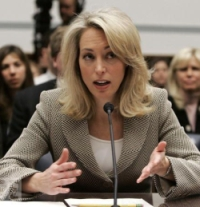 Valerie Plame Wilson testifies before the House Oversight Committee.