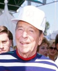 Former President Ronald Reagan in January 1992.