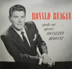The cover to the AMA album featuring Ronald Reagan.