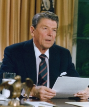 Ronald Reagan speaks to the nation.