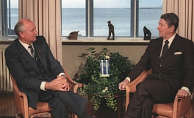 Gorbachev and Reagan at the Reykjavik summit.