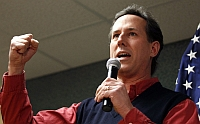 Rick Santorum, campaigning in January 2012.