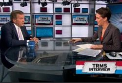 Tom Ridge and Rachel Maddow.