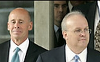 Karl Rove (right) and his lawyer, Robert Luskin.