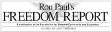 Masthead of one of Ron Paul's newsletters.