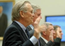 Rumsfeld before the House Committee on Government Oversight and Reform.