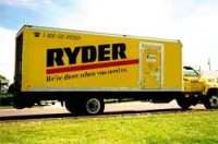 A large Ryder truck similar to that rented by Timothy McVeigh.