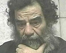 Saddam Hussein shortly after his capture.