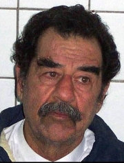 Saddam Hussein in US custody.