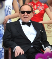 Sheldon Adelson at a celebration of the opening of his Sands Cotai Central casino in Macau, April 2012.