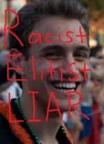 A defaced photograph of Chris Armstrong, posted on an Internet blog by Assistant Attorney General Andrew Shirvell.