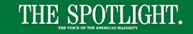 The logo of 'The Spotlight' magazine.