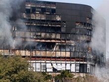 The Echelon Building in Austin, Texas, in the aftermath of Andrew Joseph Stack's suicide crash.