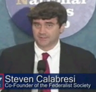 Steven Calabresi, one of the architects of the &#8216;unitary executive&#8217; theory, says Bush&#8217;s use of signing statements has gone too far.