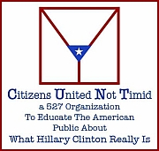 The logo for Citizens United Not Timid, with a graphic illustration representative of female anatomy.