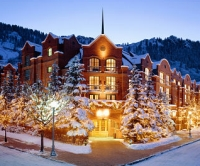 The exterior of the St. Regis Resort in Aspen, Colorado.
