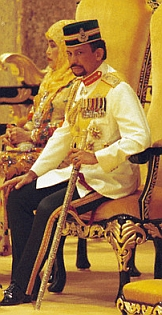 Hassanal Bolkiah, the Sultan of Brunei.