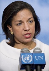 Susan Rice, speaking at the UN.