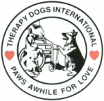 Therapy Dogs International logo.