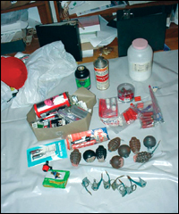 Some of the materials confiscated from Myron Tereshchuk's home by the FBI.