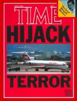 Time magazine cover from June 24, 1985 featuring report on the hijacking of Flight 847.