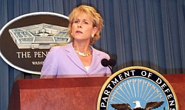 Pentagon chief of public relations Victoria Clarke.
