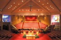 The sanctuary of Trinity United Churco of Christ.