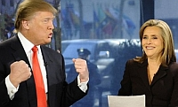 Donald Trump and Meredith Vieira on NBC's 'Today Show.'